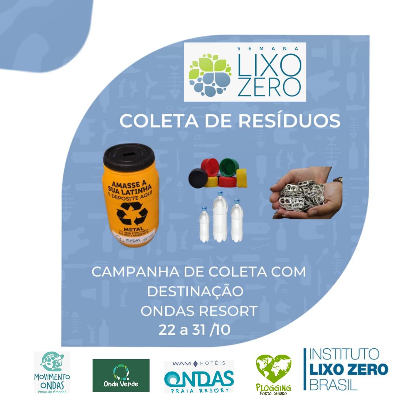 Porto Seguro participará da Semana Lixo Zero, de 22 a 31 de Outubro